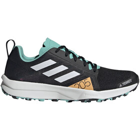 adidas TERREX Speed Flow Trail Running Shoes Women, core black/crystal white/acid mint
